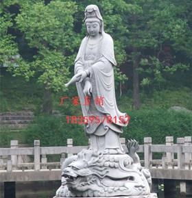 石雕佛像,三面观音石雕-- 福建省蜀帝石雕工艺有限公司