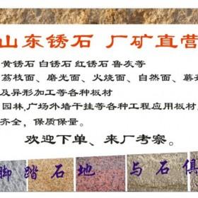 山东黄锈石各种规格板材和异形石,厂