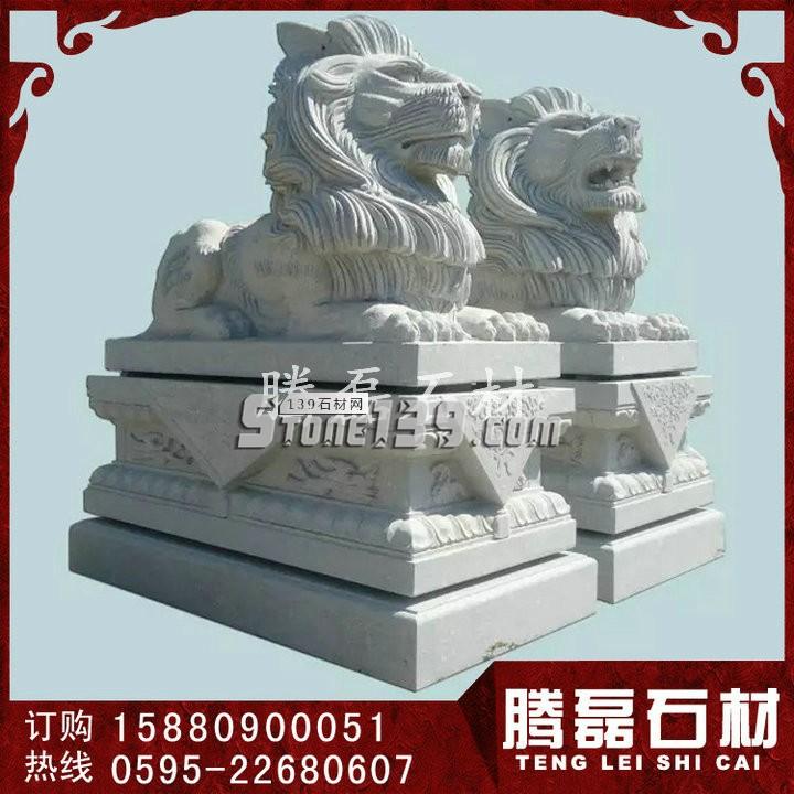 石雕港币狮 镇宅石狮子 花岗岩石狮子定做-- 福建惠安县腾磊石材有限公司