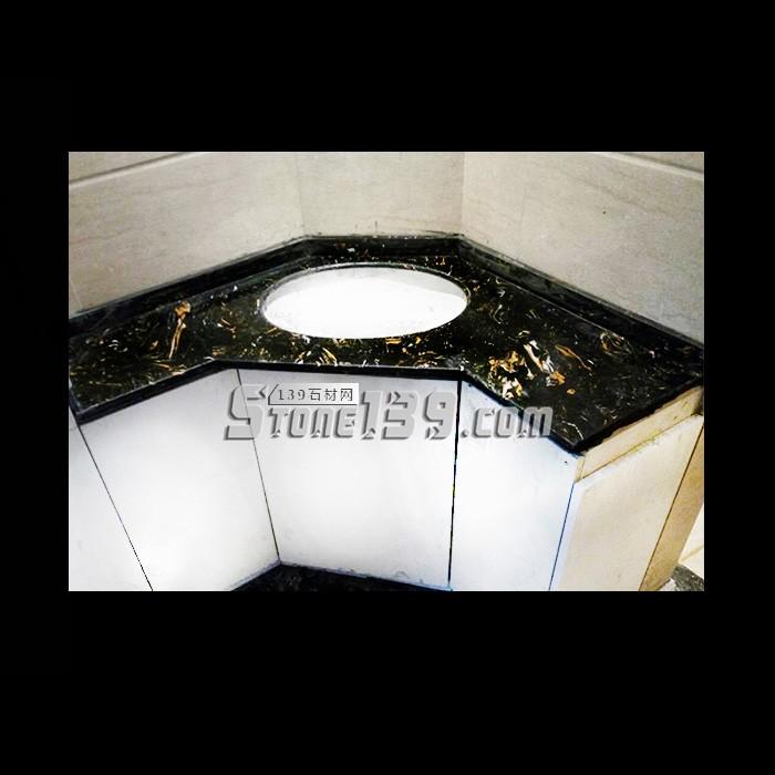 黑金花石材台面板 石狮石材产品供应-- 石狮石材背景墙