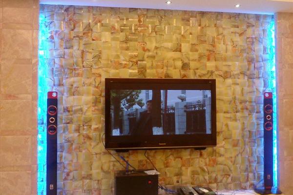 石材马赛克电视背景墙应用-- 富瑞石材