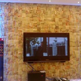 石材马赛克电视背景墙应用