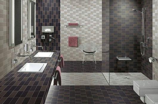 浴室地面墙面马赛克应用效果-- 富瑞石材