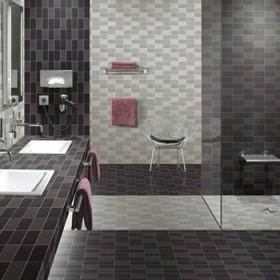 浴室地面墙面马赛克应用效果