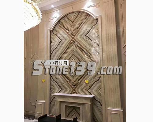 家装大理石罗马柱背景墙-- 赛迪石材罗马柱