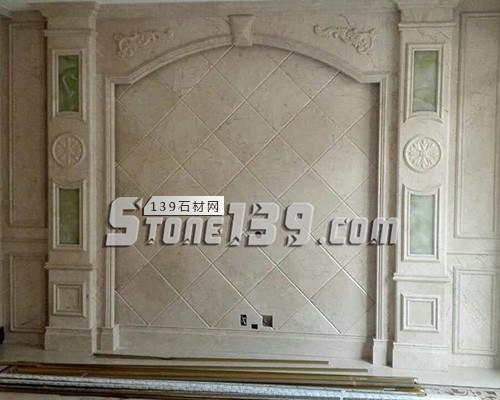 大理石罗马柱 石材背景墙-- 赛迪石材罗马柱