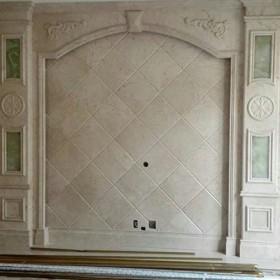 大理石罗马柱 石材背景墙