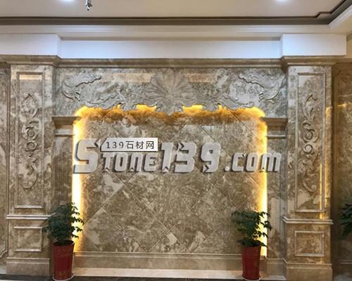 石材罗马柱背景墙 大理石家装-- 赛迪石材罗马柱