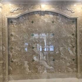 水头大理石罗马柱背景墙