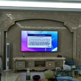 大理石罗马柱装饰电视背景墙