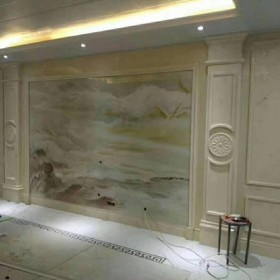 厂家直销全屋定制抛釉砖3D背景墙