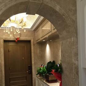 大理石内装罗马柱垭口 石材家装