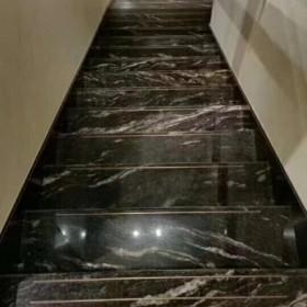 宇宙金大理石楼梯踏步应用