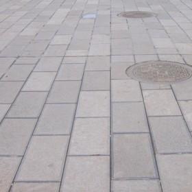 达州青石室外广场地铺效果