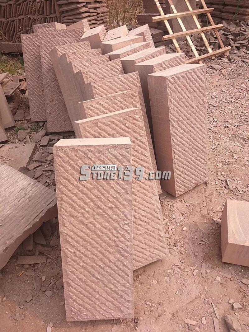 山东紫砂岩厚板墙饰 自然面 复古效果-- 山东捷顺石业有限公司