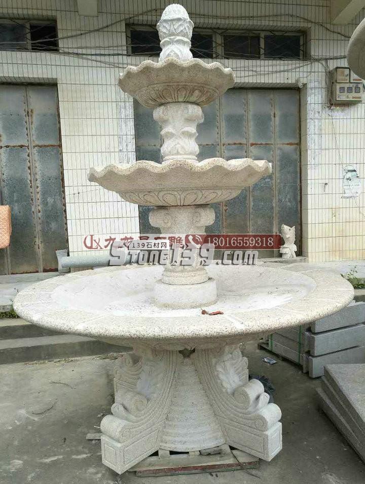 供应石材喷泉 别墅庭院石雕水钵 石雕喷泉订做 可来料加工-- 福建省九龙星园林古建有限公司