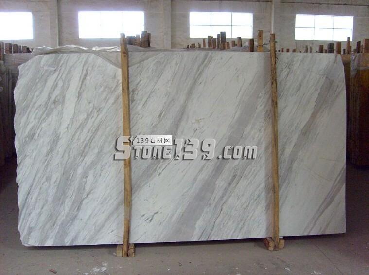 蜘蛛矿爵士白大板-- 爵士白石材