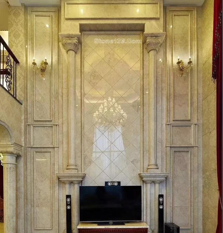 50款复式楼跃层挑高石材背景墙实景案例欣赏图片