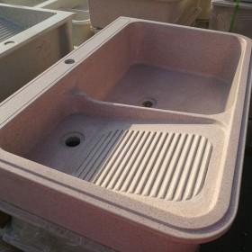 粉色石英石洗衣池
