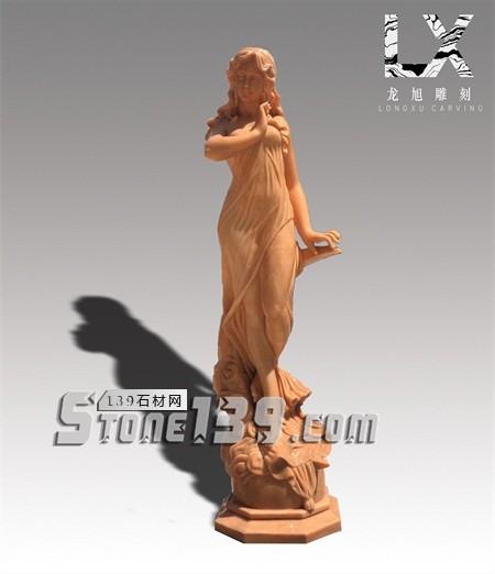 供应定制纯手工雕刻优质西式人物雕像-- 龙旭石材有限公司