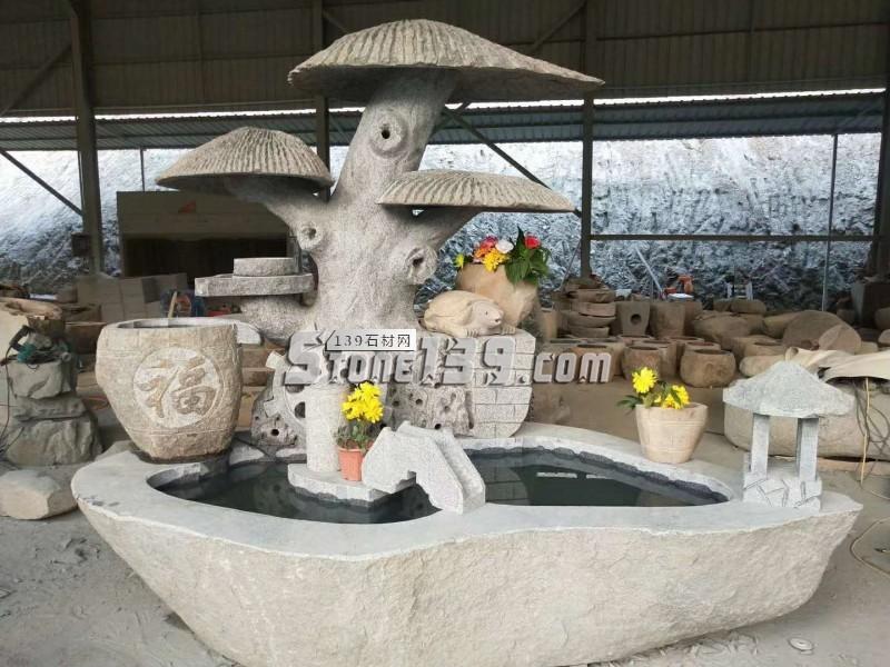 石材雕刻产品 水池 趣味石雕-- 腾翔石趣石材加工厂