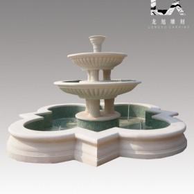 供应定制纯手工雕刻优质汉白玉西式喷