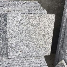 芝麻白火烧面花岗岩G603石材白麻石板材工程地铺