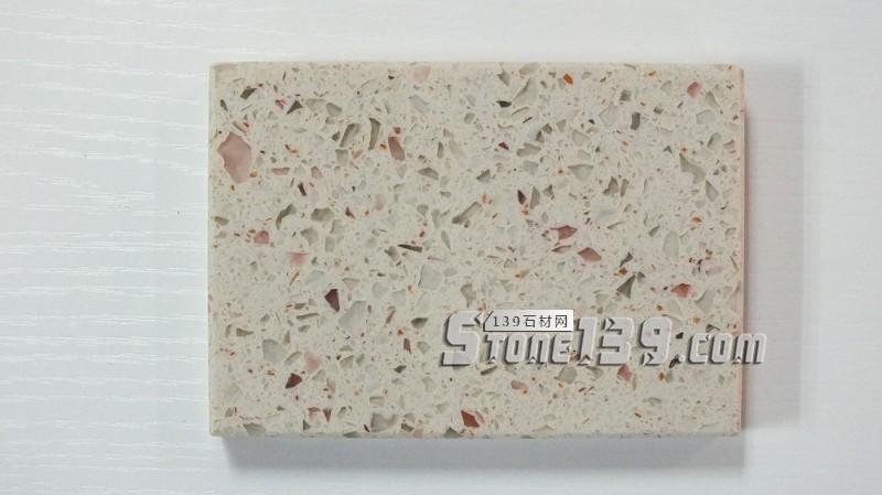白色天然彩金石英石加工台面-- 广州市丰硕贸易进出口有限公司