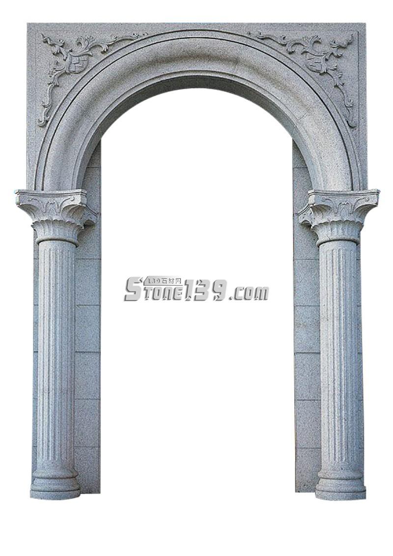 罗马柱石材门套-- 广茂石业