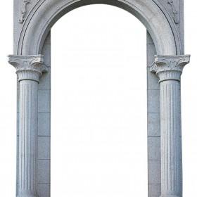 罗马柱石材门套