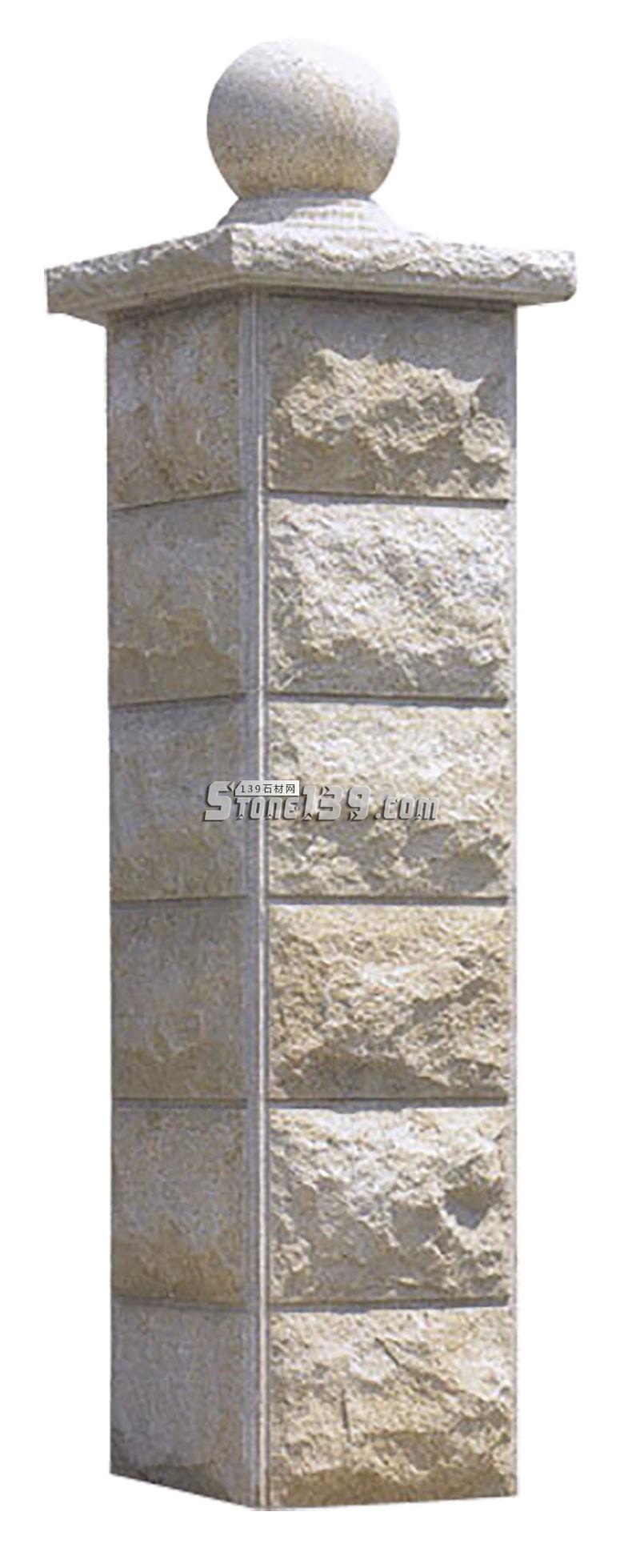 石材柱子 大院子门柱-- 广茂石业