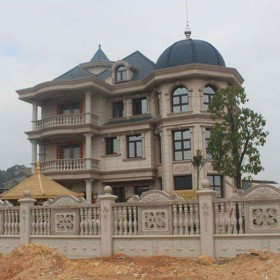 私人城堡 庄园石材装饰 带院子