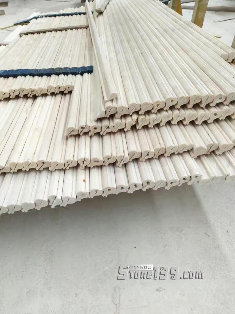 天然米白色大理石线条、家装首选现货出售支持定制