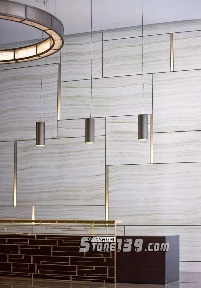 大理石+黄铜的墙面装饰应用案例