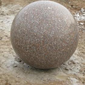 五莲石材圆球 挡车球