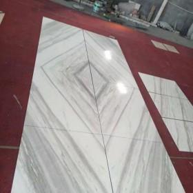 爵士白背景墙排版应用 白色大理石电视背景墙