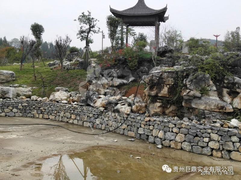 郝家湾景区建设案例之石材应用