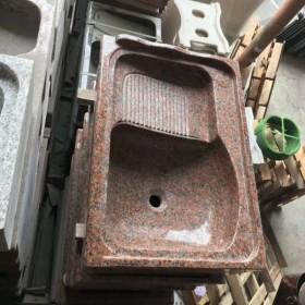 枫叶红一体洗衣池 磨光 锅底洗衣池直径90cm