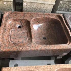 花岗岩一体洗衣池供应 80-120mm长度 接收定做