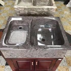 石材一体洗衣池(木材柜子底座)网上畅销产品