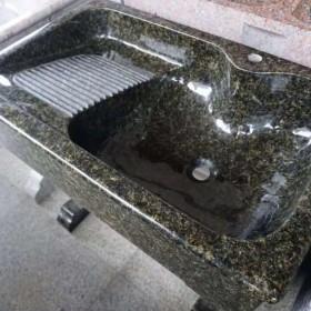 进口石材一体洗衣池 (绿星) XYC-049