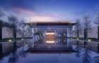蓝金沙大理石打造的新中式装饰风格 简于形而奢于心