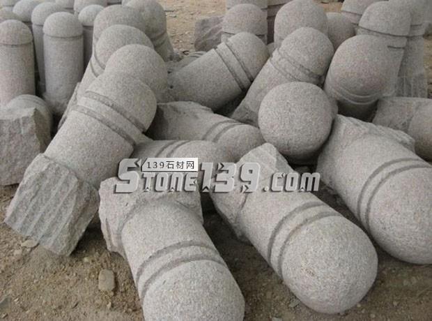 泌阳石材挡车柱 挡车石石球石柱供应-- 泌阳县春水丰达石材厂