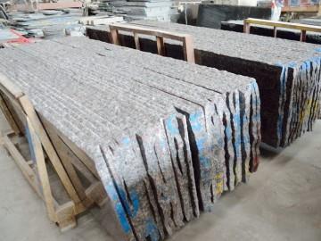 水头专业加工黑金沙、英国棕的石材加工厂 (10)