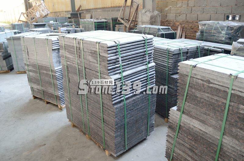 进口英国棕花岗岩成品板 倒角 水头英国棕加工厂供应-- 阿俐石材有限公司