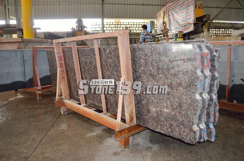 英国棕花岗石2.5CM光板加工-- 阿俐石材有限公司