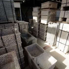 水头石材市场批发一体洗衣池 原石亲民的价格