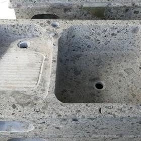 受欢迎的天然石材纹路一体洗衣池