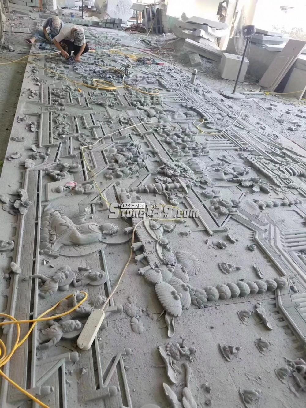 栏杆浮雕 大型场景浮雕 石材雕刻
