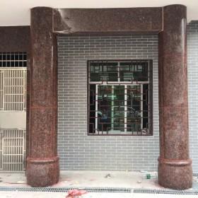 石材圆柱 别墅小洋楼一楼大门立柱